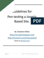 pentesting joomla