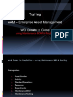 EAM-Transactions- Maintenance BOM and Routing