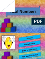 Real Numbers (Powerpoint)