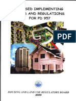 Revised Implementing Rules and Regulations for PD 957-2009