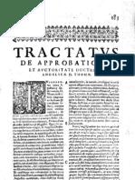 CT [1637 Ed.] t1 - 06 - Tractatus de Approbatione Et Auctoritate Doctrinae Angelicae D. Thomae
