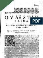 CT [1637 Ed.] t1 - 07 - Quaestio 1, De Sacra Doctrina