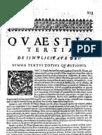 CT [1637 Ed.] t1 - 09 - Quaestio 3, De Simplicitate Dei