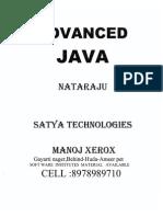 Advanced Java Notes by Nataraz Sir JavabynataraJ