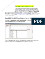 Install FTP Server on IIS Windows Server