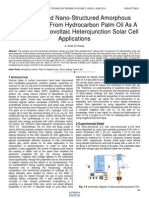 Complex and Nano Structured Amorphous Carbon Films From Hydrocarbon Palm Oil as a P Type in Photovoltaic Heterojunction Solar Cell Applications