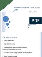 Strategic Mgmt Xiaomi smartphone