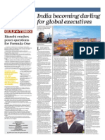 India Becoming Darling for Global Executives - Gulf Times 9 Oct 2014