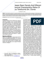 Relationship Between Basic Density and Different Types of Anatomical Characteristics Ratios of Eucalyptus Tereticornis Sm Clones