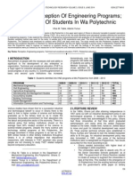 Students Perception of Engineering Programs Case Study of Students in Wa Polytechnic