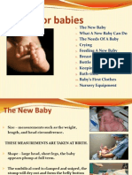 caring for babies
