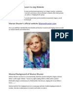Marion Shuster's official website, MarionShuster.com