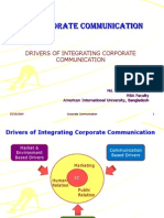 Lesson 4 - Drivers of Integrating Corporate Communication