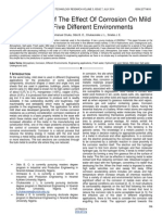 Investigation of the Effect of Corrosion on Mild Steel in Five Different Environments