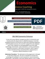 MA Economics Entrance India
