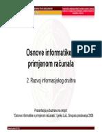 Osnove Informatike 2 - Razvoj Informacijskog Društva