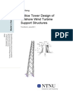 Wei Gong Lattice Tower Design of Offshore Wind Turbine Support Structures v0