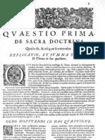 CT [1654 Ed.] t1 - 07 - Quaestio 1, De Sacra Doctrina