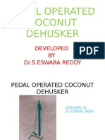 Pedal Operated Coconut Dehusker