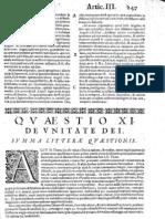 CT [1654 Ed.] t1 - 16 - Quaestio 11, De Unitate Dei