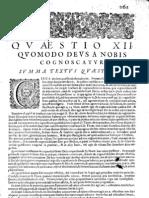 CT [1654 Ed.] t1 - 17 - Quaestio 12, Quomodo Deus a Nobis Cognoscatur