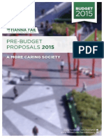 Fianna Fail Pre Budget Submission Final Draft