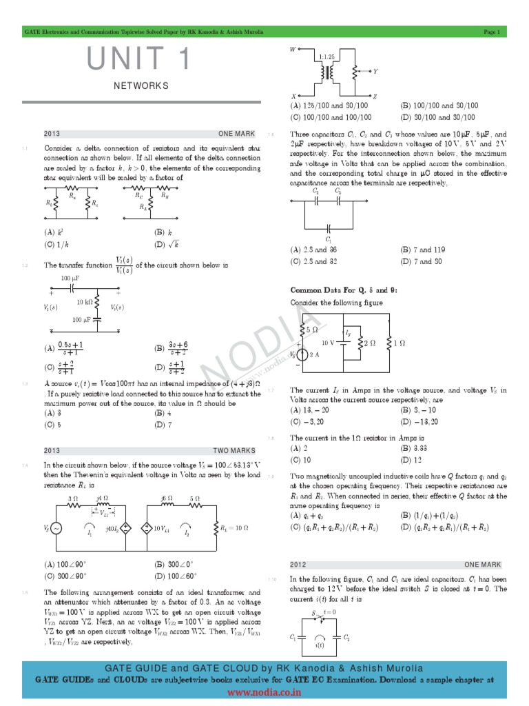 Gateecsp2014 Electrical Impedance Series And Parallel Circuits Circuit Questions Answers Bandreject Allpass Filters
