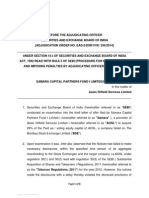 Adjudication order against Samara Capital Partners Fund I LTD in the matter of Asian Oilfield Services Limited