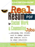 Real-Resumes for Social Work and Counseling Jobs... Including Real Resumes Used to Change Careers and Transfer Skills to Other Industries