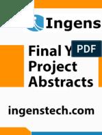 IEEE Projects 2014 - 2015 Abstracts - Zigbee 01