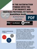 Presentation on Kotak mahindra bank