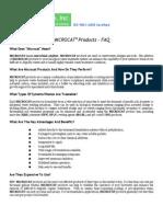 MICROCAT Microbial Products - FAQ
