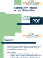 Mid Session Nifty Trading report by ShareTipsInfo on 09-October-2014