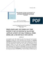 Preliminary Studies on the Effect of Livestock Manure Application on Bacterial Fish Disease and Human Hygiene