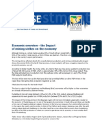 Economic Overview - Impact of Recent Mining Strikes