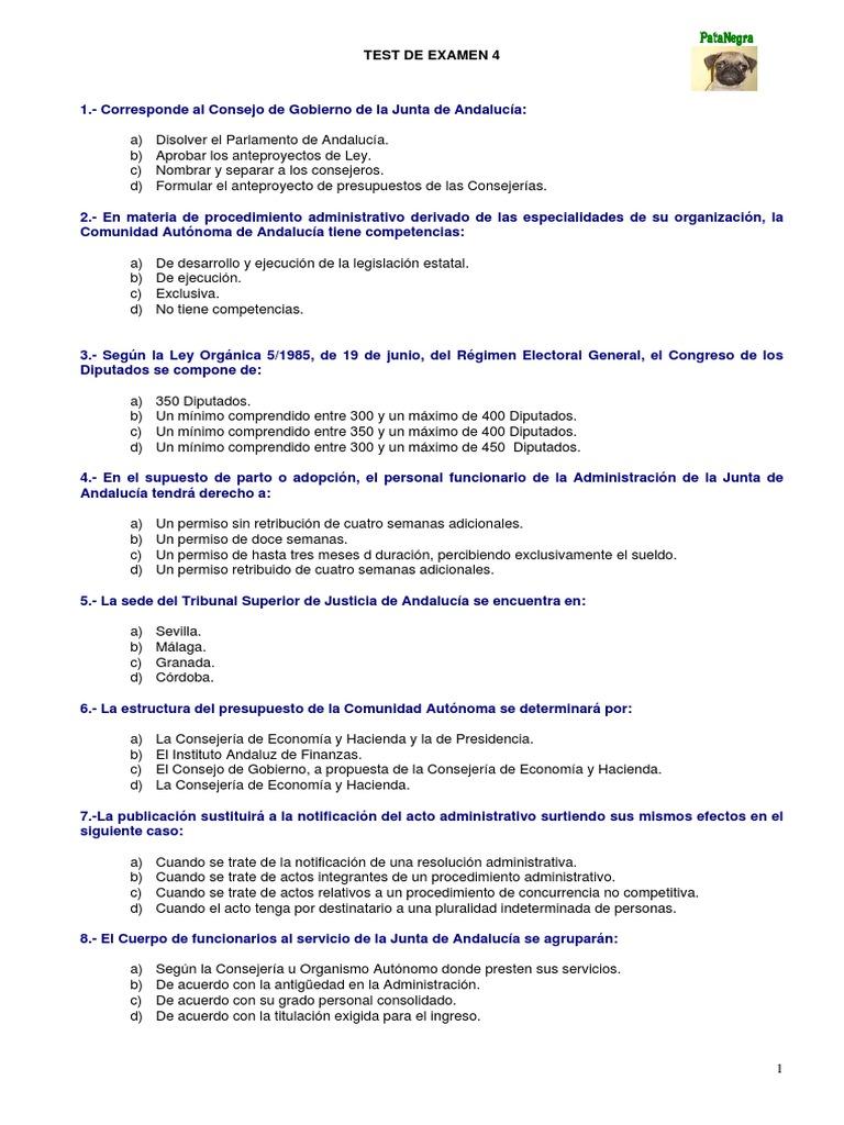 test oposiciones auxiliar administrativo pdf