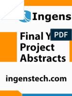 IEEE Projects 2014 - 2015 Abstracts - Robotics 07