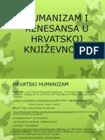 Humanizam i Renesansa u Hrvatskoj Knjizevnosti