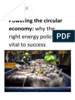 Powering the Circular Economy - Why the Right Energy Policy is Vital to Success