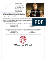 master chef with recipes