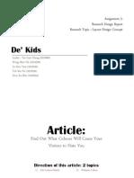 research design report