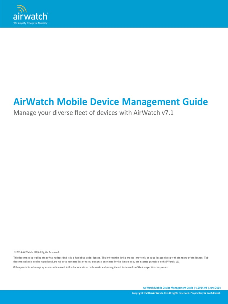 Airwatch Mdm Guide V7 Email Command Line Interface