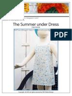 Free Tutorial for Sophie'Sunder Dress
