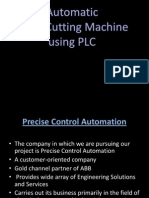 Cloth Cutting machine using PLC