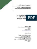 Research Proposal DRC 01 VNSGU