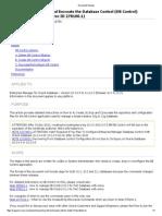 Deconfig Enterprise Manager