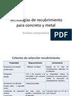 Tecnologías de recubrimiento para concreto.ppt