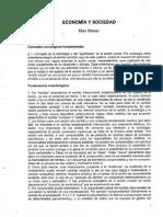 Economia y Sociedad Max Weber