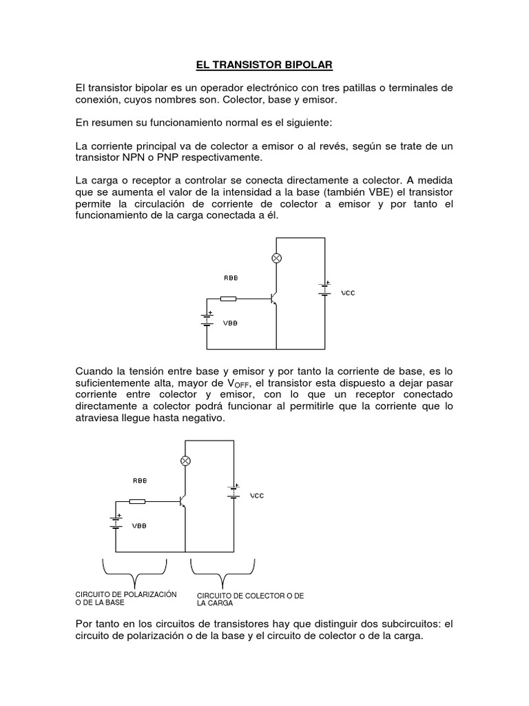 Circuito Transistor : El transistor bipolar.pdf
