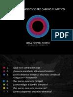 Conceptos básicos sobre cambio climático